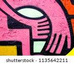 street art graffiti. closeup... | Shutterstock . vector #1135642211