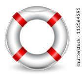 vector illustration of life buoy | Shutterstock .eps vector #113564395