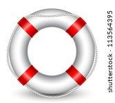 Vector Illustration Of Life Buoy