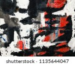 wall fragment with abstract... | Shutterstock . vector #1135644047