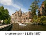 Tourist On Boat Trip In Bruges...