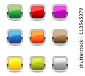 glossy rounded rectangular... | Shutterstock .eps vector #113565379