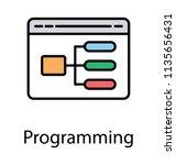 interface of a programming... | Shutterstock .eps vector #1135656431
