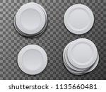 vector modern dish plate on...   Shutterstock .eps vector #1135660481