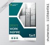 business annual report brochure ... | Shutterstock .eps vector #1135664561