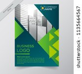business annual report brochure ... | Shutterstock .eps vector #1135664567