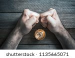 quit alcohol drinking concept... | Shutterstock . vector #1135665071