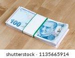 turkish banknotes  turkish lira ...   Shutterstock . vector #1135665914