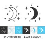 crescent black linear and...   Shutterstock .eps vector #1135666004