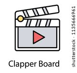 a clapperboard decorated with... | Shutterstock .eps vector #1135666961