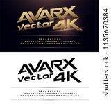 technology alphabet gold... | Shutterstock .eps vector #1135670384