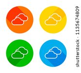 mostly cloudy icon. simple... | Shutterstock .eps vector #1135674809