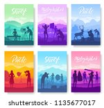 photoshoot ideas in nature... | Shutterstock .eps vector #1135677017