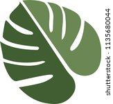 monstera leaf vector | Shutterstock .eps vector #1135680044