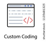 a html source code on website... | Shutterstock .eps vector #1135681325
