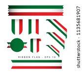 Italy Ribbon Flag Vector...