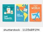tour of the world vector... | Shutterstock .eps vector #1135689194