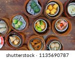 the chinese food  a many kind... | Shutterstock . vector #1135690787