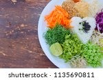 khao yam healthy rice food for... | Shutterstock . vector #1135690811