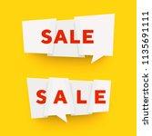 vector paper cut banner.... | Shutterstock .eps vector #1135691111