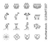 business people icons line... | Shutterstock .eps vector #1135697207