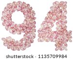 arabic numeral 94  ninety four  ... | Shutterstock . vector #1135709984