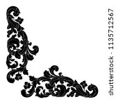 retro baroque decorations...   Shutterstock .eps vector #1135712567