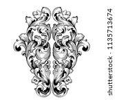 retro baroque decorations... | Shutterstock .eps vector #1135713674