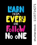 learn from everyone follow no...   Shutterstock .eps vector #1135714271