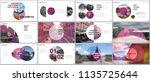 minimal presentations design ... | Shutterstock .eps vector #1135725644
