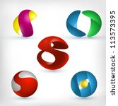 abstract 3d sphere logos...