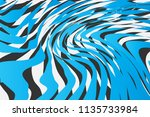 color trendy twisted lines... | Shutterstock .eps vector #1135733984