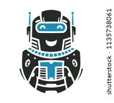 cute robot symbol and... | Shutterstock .eps vector #1135738061