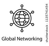globe with connections... | Shutterstock .eps vector #1135741454