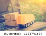 air courier   freight forwarder ... | Shutterstock . vector #1135741634