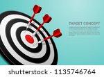 Darts Target Vector. Shooting...