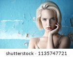 close up portrait of a... | Shutterstock . vector #1135747721