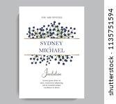 floral wedding invitation...   Shutterstock .eps vector #1135751594