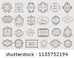calligraphic vintage vector... | Shutterstock .eps vector #1135752194