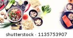 ingredients ready asian food... | Shutterstock . vector #1135753907
