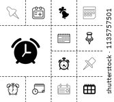 reminder icon. collection of 13 ... | Shutterstock .eps vector #1135757501