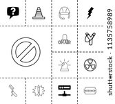 danger icon. collection of 13... | Shutterstock .eps vector #1135758989