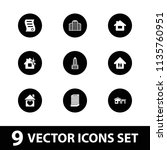 estate icon. collection of 9... | Shutterstock .eps vector #1135760951