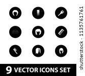hairstyle icon. collection of 9 ... | Shutterstock .eps vector #1135761761