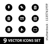 reminder icon. collection of 9... | Shutterstock .eps vector #1135761959