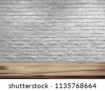 vector empty top of natural... | Shutterstock .eps vector #1135768664