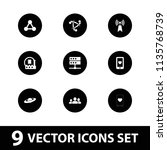 network icon. collection of 9... | Shutterstock .eps vector #1135768739