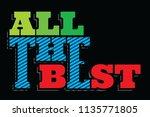 all the best vector...   Shutterstock .eps vector #1135771805