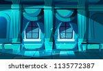 vector dark castle ballroom... | Shutterstock .eps vector #1135772387