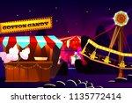 funfair or fairground cartoon... | Shutterstock .eps vector #1135772414